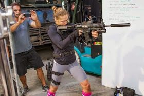 Ronda Rousey announces #Fast7 after #Expendables3 filming!