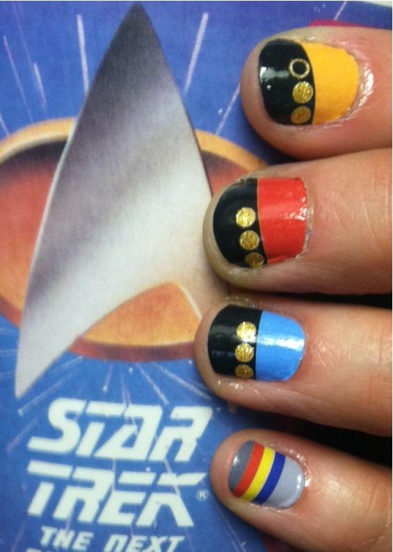 Star Trek Nails the Wesley sweater ones lol