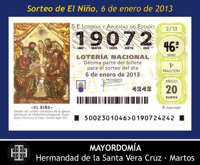 06.01.2013 Lotería Nacional - Sorteo de El Niño. Hermandad de la Santa Vera Cruz. Martos [Spain].