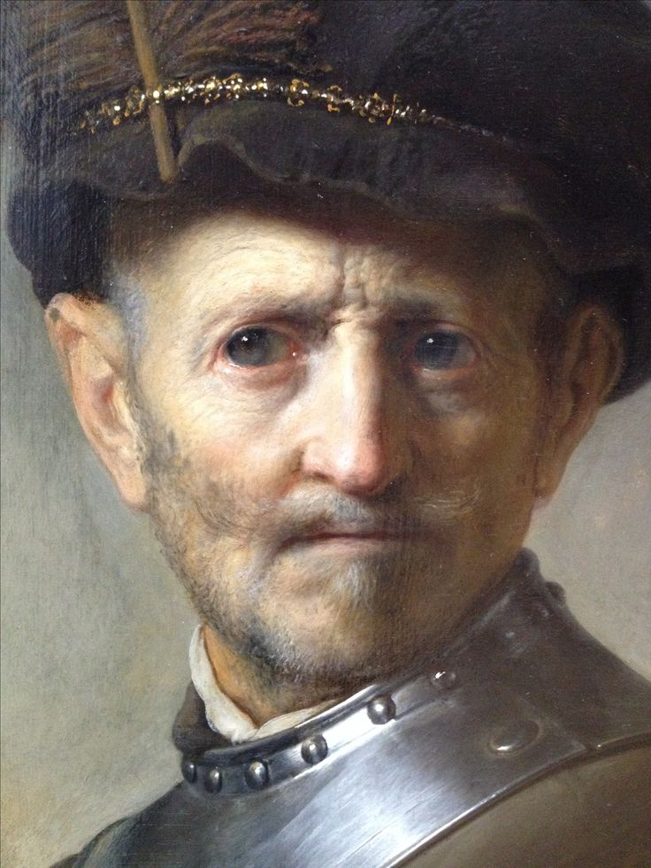 An Old Man in Military Costume, Rembrandt. About 1630-1631. Oil on panel.