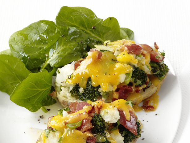 Broccoli-Cheddar Potatoes from FoodNetwork.com-replace bacon with ...