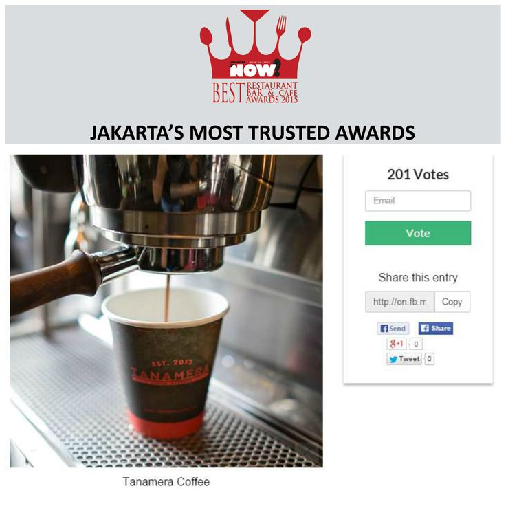 Give your vote for Tanamera Coffee for The Best Cafe on #BRBCA2015! #Jakarta #NOWJakarta #LifeinTheCapital #BRBCA #Best #Cafe #Awards #Event #JKTEvent #Tanamera #Coffee #TanameraCoffee #TanameraCoffee #Shop #CoffeeShop #Breakfast #Brunch #Lunch #Din #Diner #Dining #Hangout