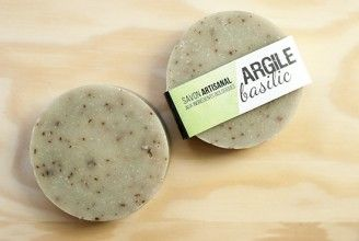 ARGILE et BASILIC - Savon biologique / organic soap