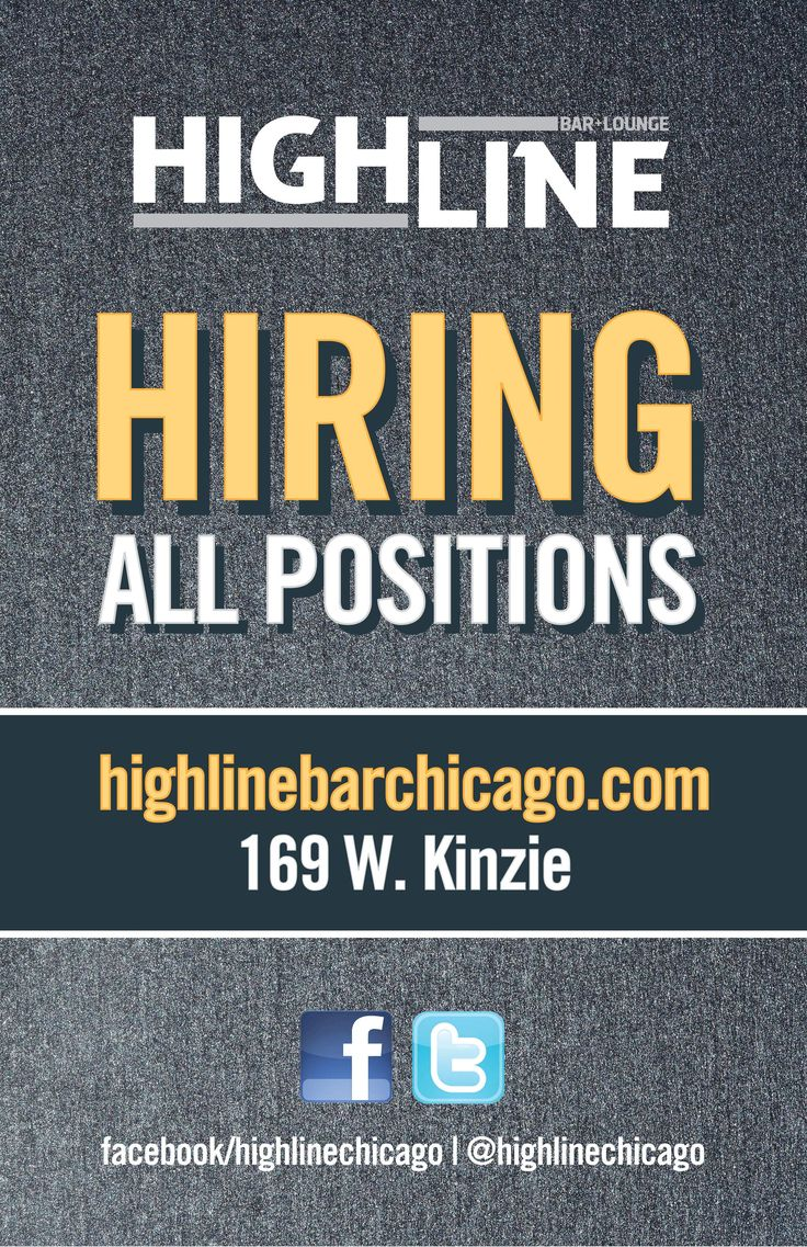 Our first location in River North is hiring!