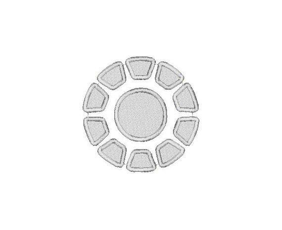 Iron Man Arc Reactor Embroidery Design