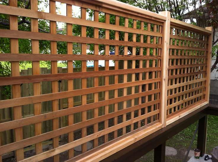deck plans and ideas   Decks and Fences Created by Deckrative Designs: LATTICE PRIVACY DECK ...