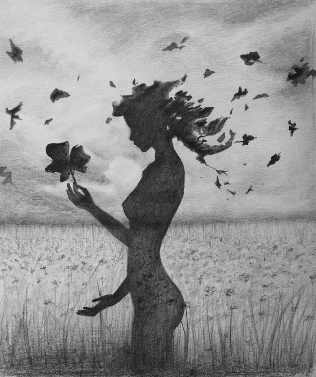 "Saatchi Online Artist: Anastasia Bivol; Pencil, Drawing ""Autumn Nature"""