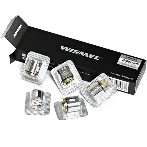 The Wismec GNOME replacement coils are available in WM02 Dual 0.15 ohm coils and WM03 Triple 0.2 ohm coils