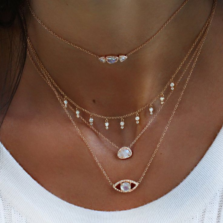 "14kt gold and diamond Mila moonstone choker on adjustable 12.5"" - 14"" *length customizable ** Moonstones have been used for new beginnings; in every sense of the meaning. Whether it's literal, in a ne"