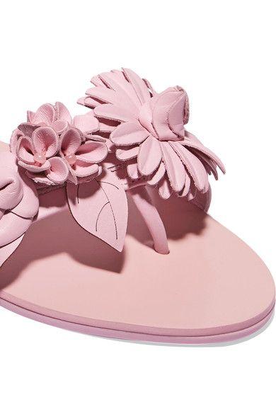 Sophia Webster - Lilico Appliquéd Leather Slides - Pink - IT