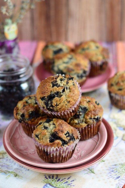 Bögrés áfonyás muffin recept