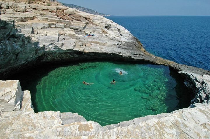 Giola Thassos, Natural Lagoon, Greece