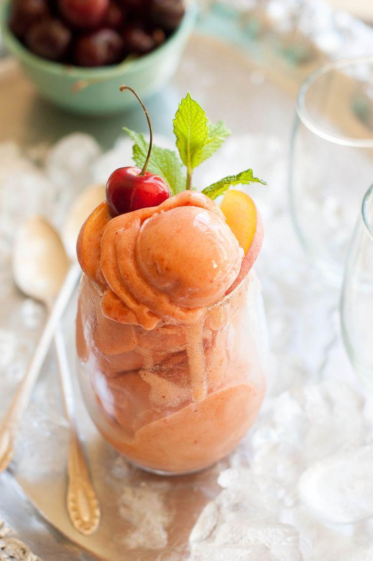 Cherry Nectarine Mint Sorbet - The Kitchen McCabe