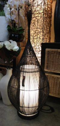 Woven Wicker Lidi Onion Lamp 125