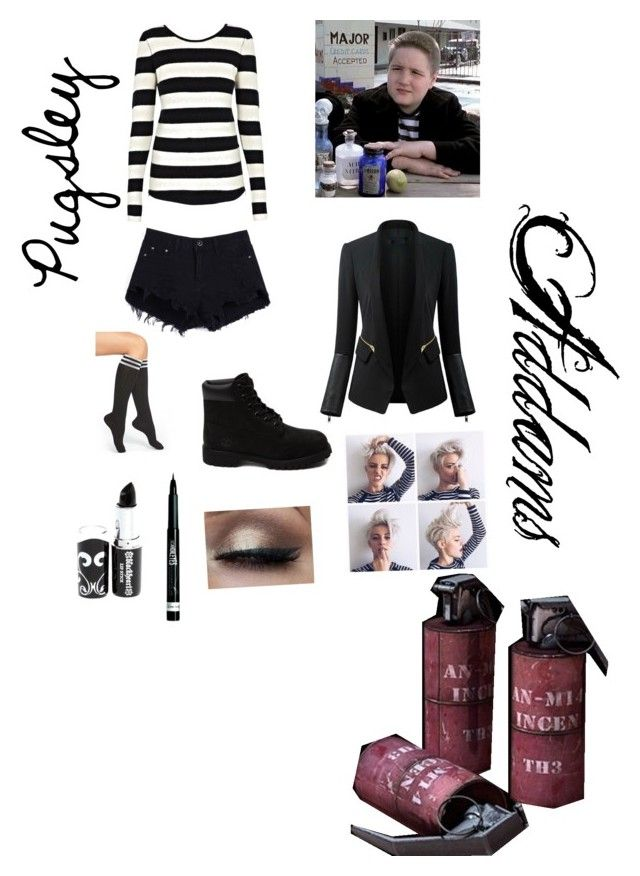 """""""Pugsley Addams"""" by thewonderinggirl on Polyvore featuring Twist & Tango, Chicsense, Arthur George, Timberland, Rimmel, women's clothing, women, female, woman and misses"""