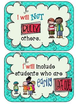 How I Will Stop Bullying {Anchor Chart}. I am a friend to anyone and everyone. And so can you. Its as simple as smiling at people.