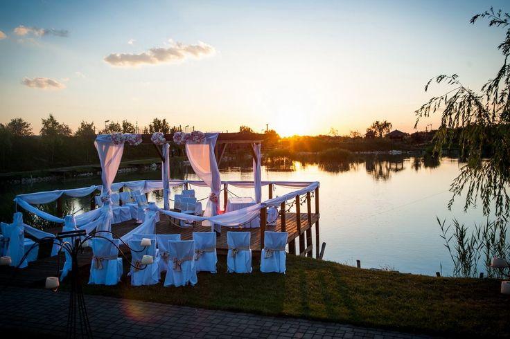 wedding near lake