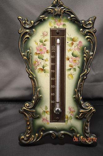 Antique Porcelain Handpainted Thermometer Easel, RARE, Unusual Royal Bohn