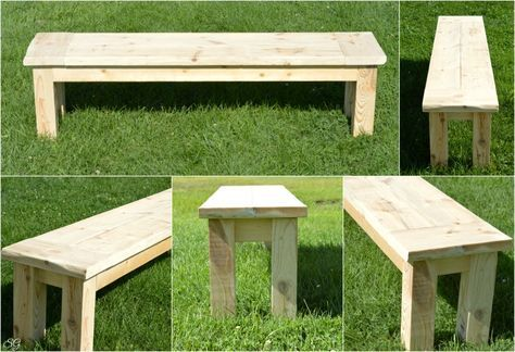 Super Easy Rustic Bench In 2019 Projects Diy Wood