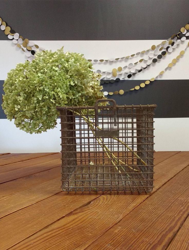 Vintage Locker Basket with Metal Number Tag; Wire Basket; Industrial Locker Basket; Storage & Organization; Gym Locker; Fixer Upper by LynnMichelleDesign on Etsy