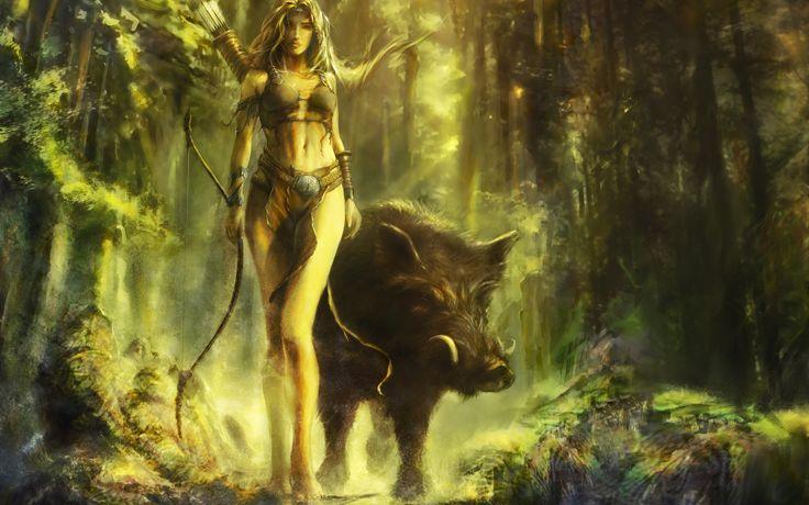 Celtic Beliefs Shamanism | Arduinna Celtic nature deity In Celtic mythology, Arduinna (also ...