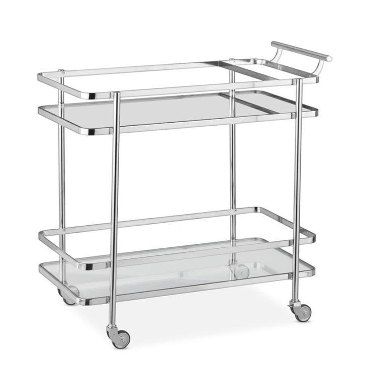 Truman Bar Cart, Nickel