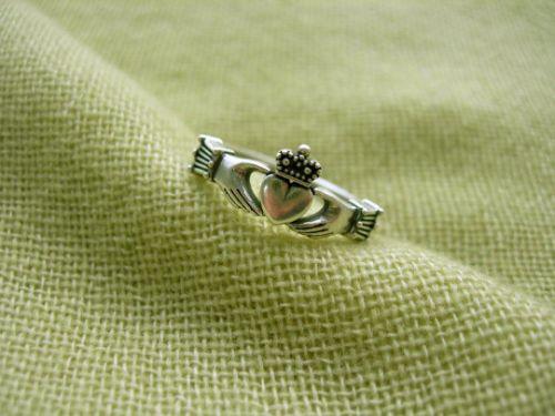 Claddagh ring. Celtic heart ring. Irish Heart Ring. Heart In Hands.