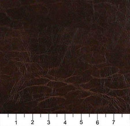 Tissu d'ameublement en cuir recyclé Aspect vielli - Brun