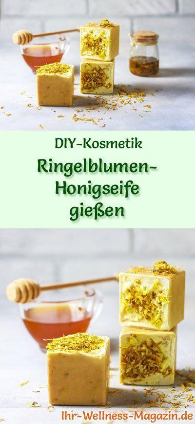 Ringelblumen-Honigseife gießen – Seifen-Rezept & Anleitung- -#Hautpflege – #Anl…