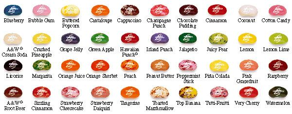 Jelly Belly Flavors Jelly Belly Pinterest Jelly