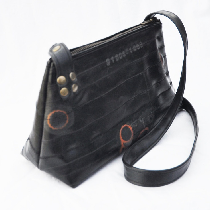 Bag made from upcycled bike inner tubes Raw by KlintDesign