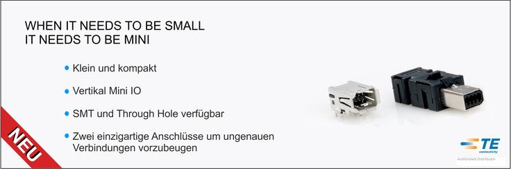 SHC GmbH - TE's Industrial Mini I/O #Steckverbinder als Ersatz für #RJ45 #Stecker // Das industrielle Mini I/O Steckverbinder-System ist eine kleine, kompakte, verrastende wire-to-board #I/O Schnittstelle, die jetzt auch als vertikale Version verfügbar ist und eine sichere und verlässliche Verbindung in allen Einbaulagen ermöglicht. #Technik #TEConnectivity #SHC