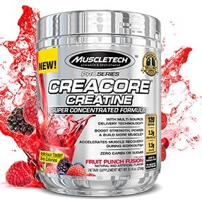 This shit is boss. Plus their preworkout explosion. Let's me lift 1/3 again my norm. Carbs before + protein/fat after ***do not eat sugar w protein/fat load. Insulin released will store FAT in addition to carbs*** >>> MuscleTech Pro Series CreaCore Creatine