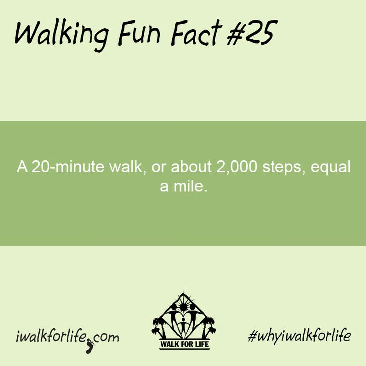 a 20 minute walk or about 2 000 steps equal a mile walkingfunfacts whyiwalkforlife. Black Bedroom Furniture Sets. Home Design Ideas