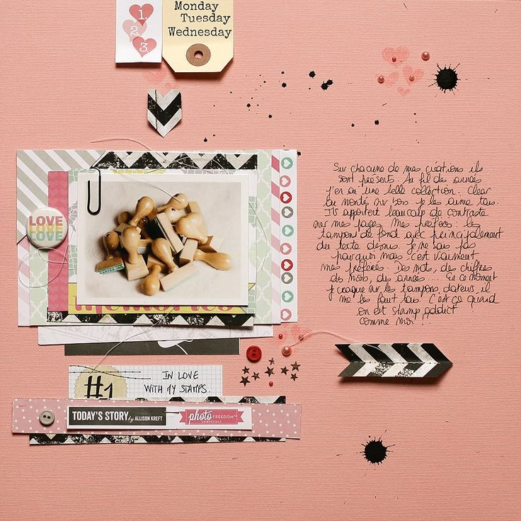 ★Scraptherapie★: {DT Scraptastic Club>>>In love with my stamps}