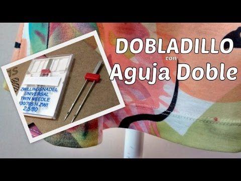 Dobladillo con doble aguja. IDEAL PARA TEJIDOS ELASTICOS, CAMISETAS....