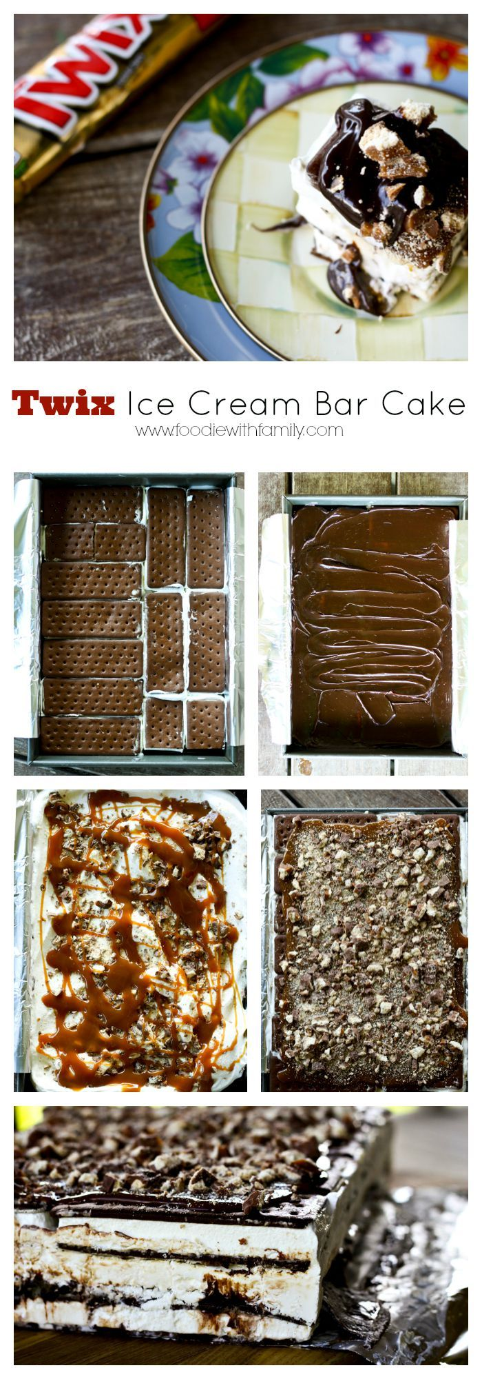 Twix Ice Cream Sandwich Cake for No-Bake summer sweet tooth satisfaction