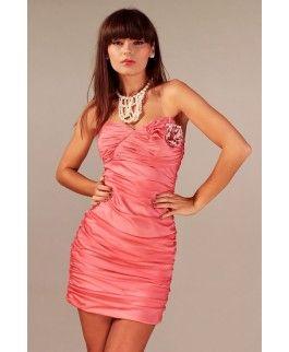 Vera fashion wieczorowa sukienka w kolorze łososiowym
