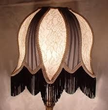 victorian lamp shade black white - Google Search