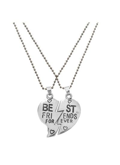Silver Best Friend For Ever Fashion Broken Heart Dual Pendants Rs 203 Gift Him Gifts India Ideas Men Birthday