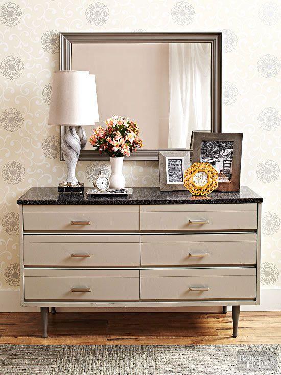 Fake the look of granite get the look furniture and countertops for Granite top bedroom furniture