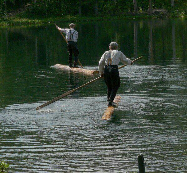 Old School Paddle Boarding. Amish Paddle Board. Paddling
