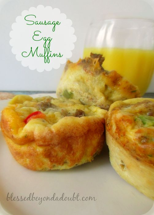Make ahead egg breakfast muffins! Perfect for back to school!