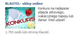 Kreacja reklamowa przygotowana dla konkursu na Facebook u dla Klautela