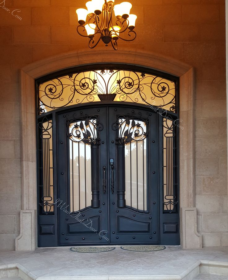Installed by Universal Iron Doors. Visit our web site at .iwantthatdoor.com to see more designs. Call (818)771.1003 and our salesman will help you to ... & 153 best Wrought Iron Doors images on Pinterest | Wrought iron ... pezcame.com