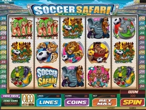 Soccer Safari – Free Slot Game