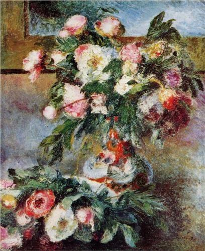 Peonies - Pierre-Auguste Renoir