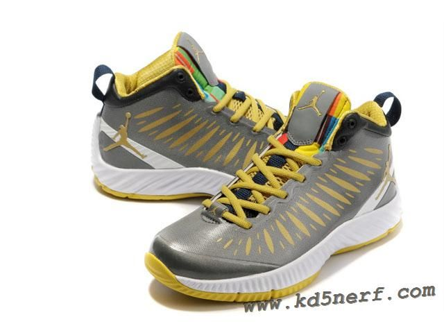 2012 Jordan Super Fly Olympic Shoes In Gray Yellow Hot