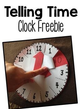 Use this FREE telling time resource with your Kindergarten, 1st, 2nd, or 3rd grade classroom and homeschool students to help them learn how to tell time. It's a great, hands-on way to manipulate a clock. Great for small group math instruction, math centers, review, introduction to a clock, and more. Click to get your freebie now! {K, first, second, third grader}