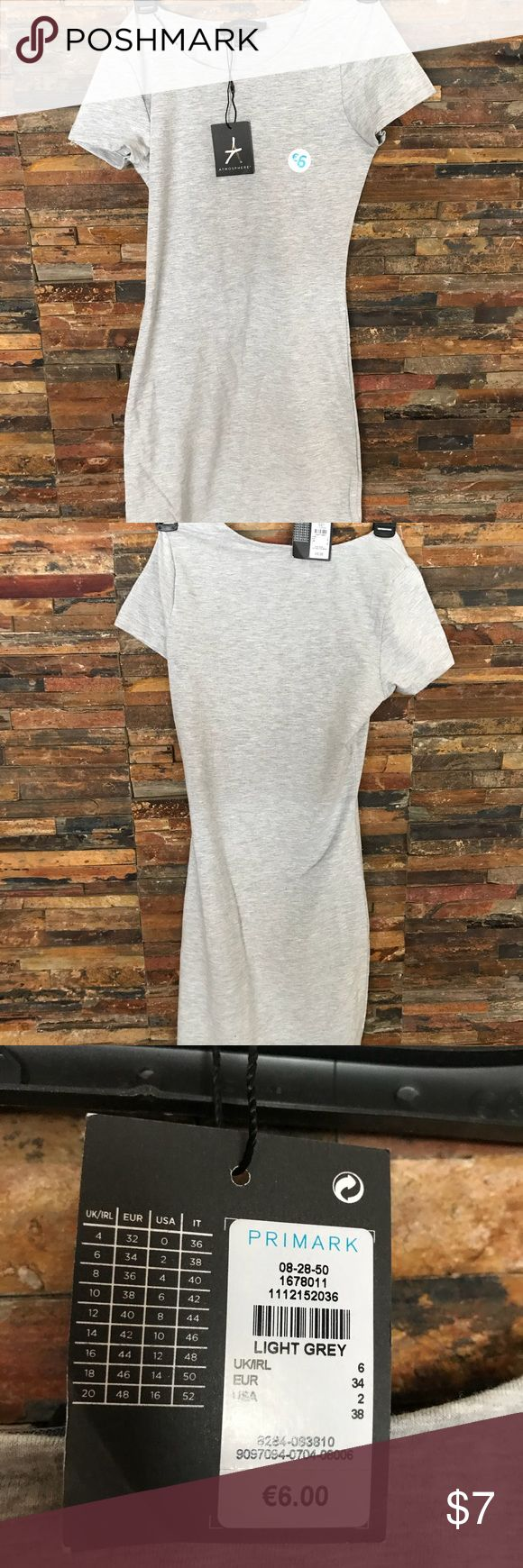 Primark Grey mini T-shirt Dress Grey mini T-Shirt dress. Brand new primark Dresses Mini